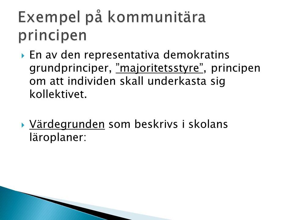 Exempel på kommunitära principen