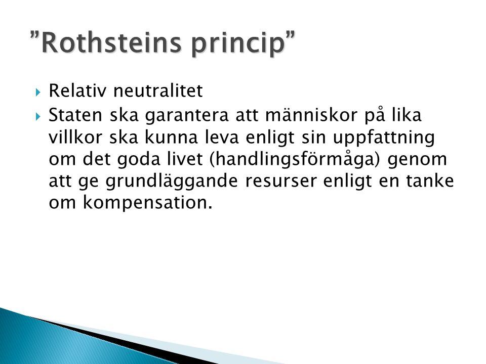 Rothsteins princip Relativ neutralitet