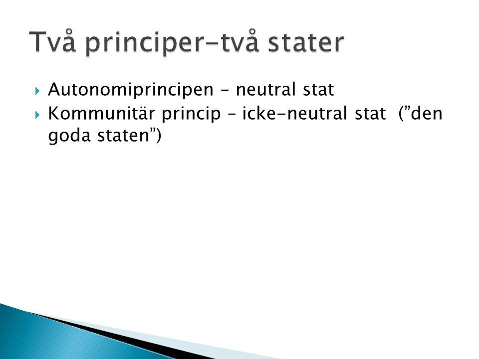 Två principer-två stater
