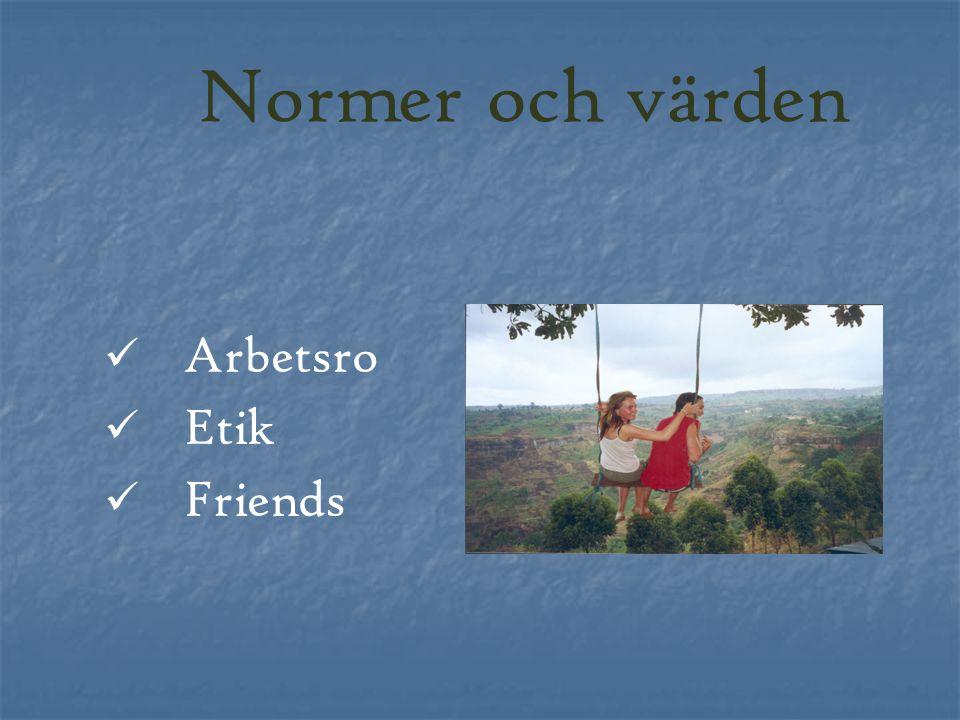 Normer och värden Arbetsro Etik Friends
