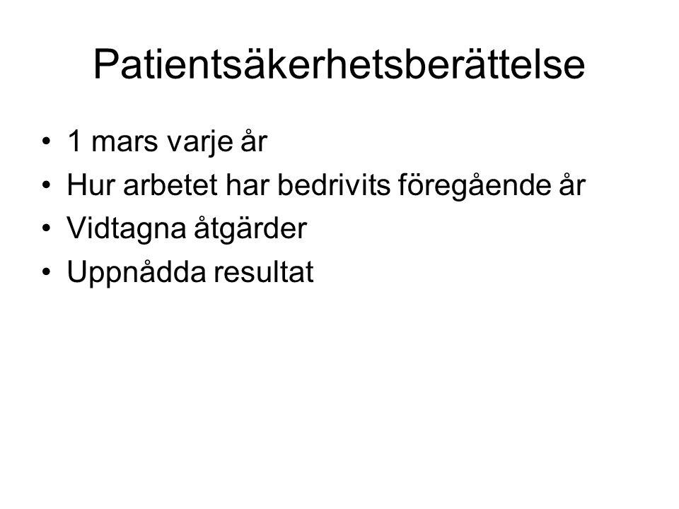 Patientsäkerhetsberättelse