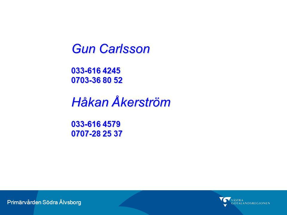 Gun Carlsson Håkan Åkerström 033-616 4245 0703-36 80 52 033-616 4579