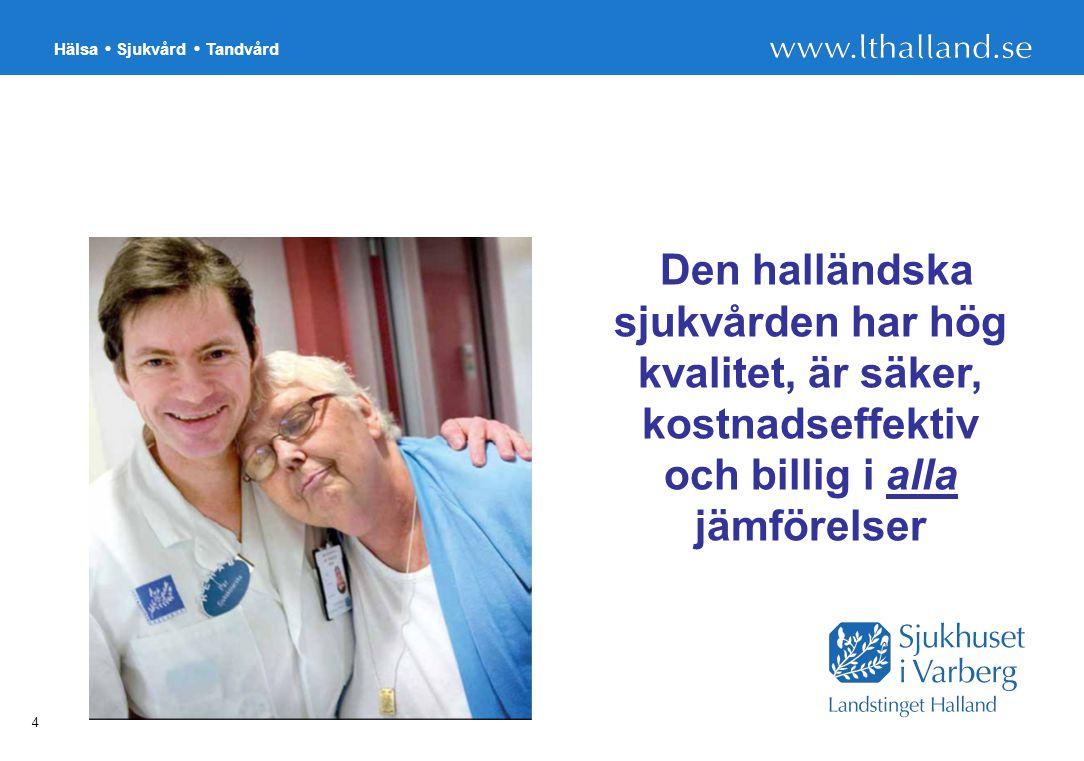 Den halländska sjukvården har hög kvalitet, är säker, kostnadseffektiv och billig i alla jämförelser