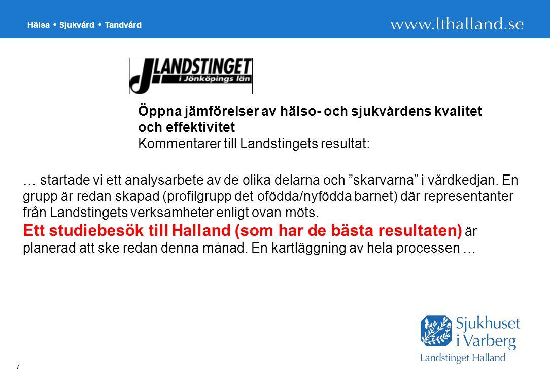 Öppna jämförelser av hälso- och sjukvårdens kvalitet och effektivitet