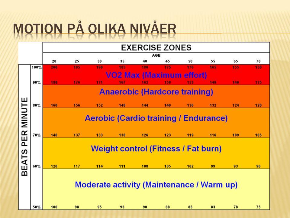 Motion på olika nivåer