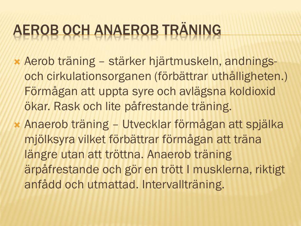 Aerob och anaerob träning