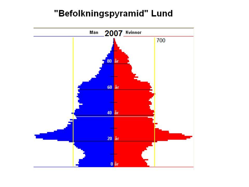 Här är befolkningsstrukturen för Lund