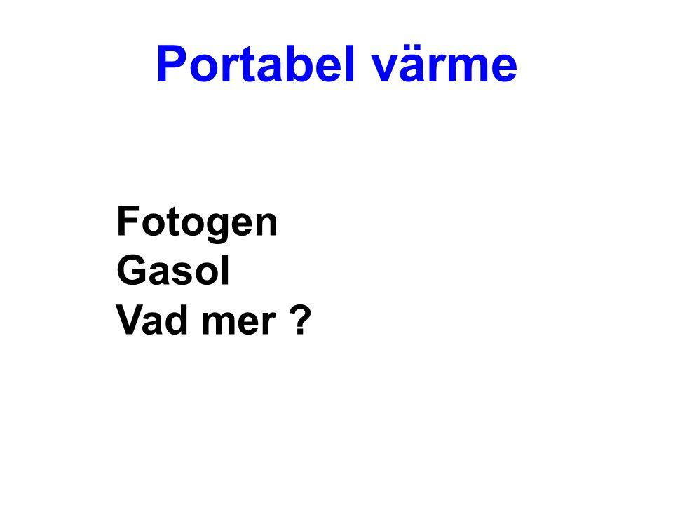 Portabel värme Fotogen Gasol Vad mer