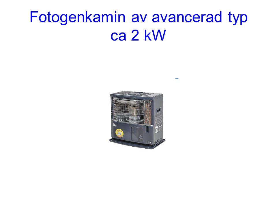 Fotogenkamin av avancerad typ ca 2 kW