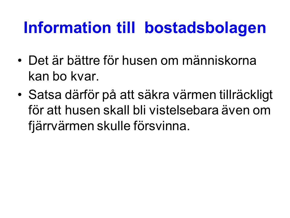 Information till bostadsbolagen