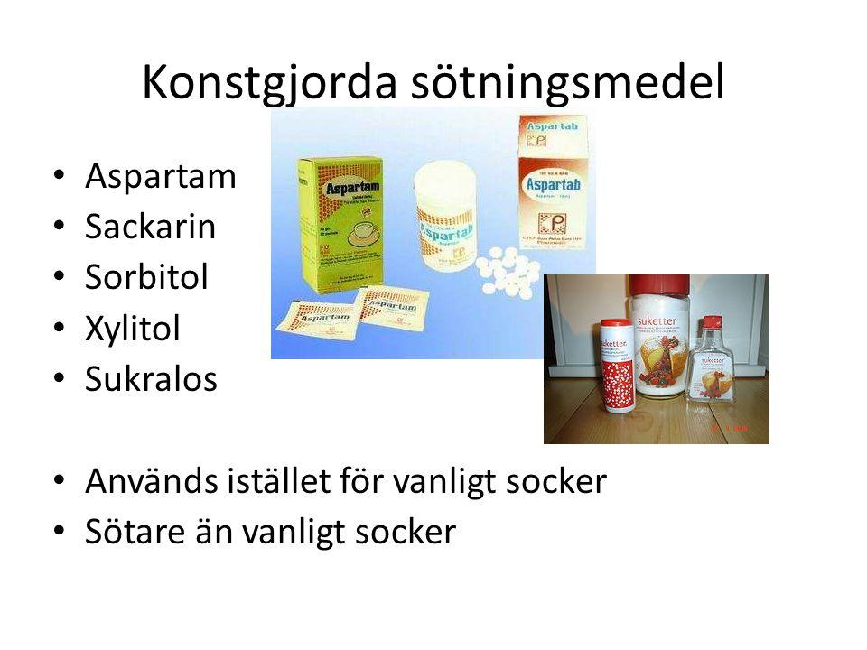 Konstgjorda sötningsmedel