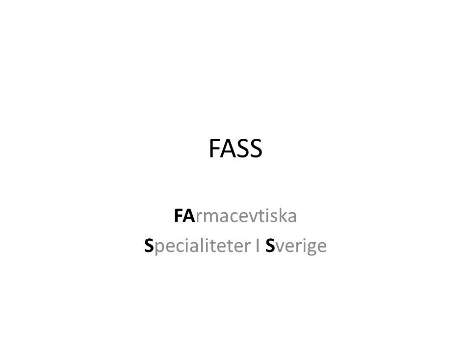 FArmacevtiska Specialiteter I Sverige