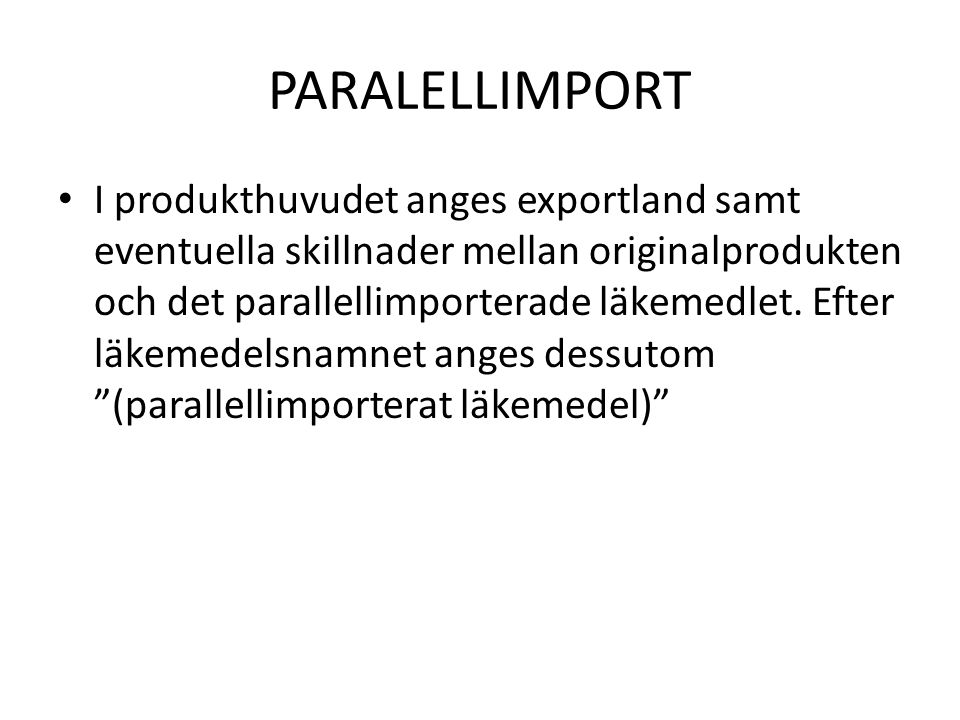 PARALELLIMPORT