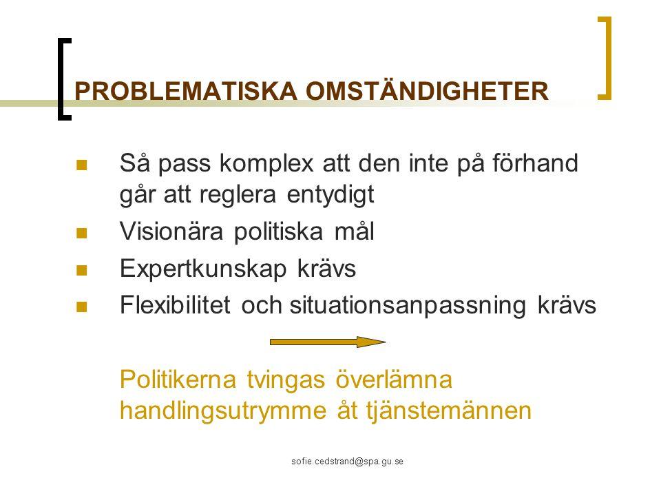 PROBLEMATISKA OMSTÄNDIGHETER