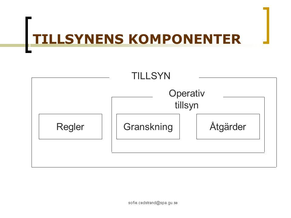 TILLSYNENS KOMPONENTER