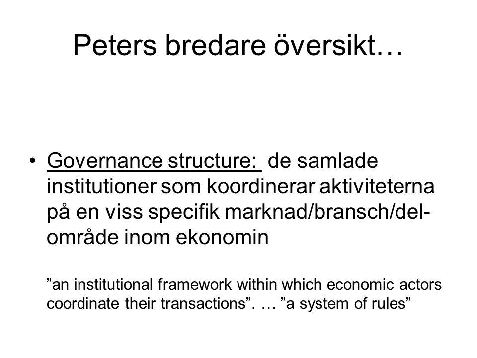 Peters bredare översikt…