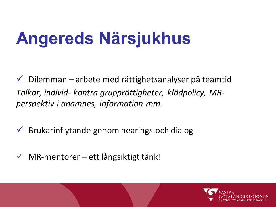 Angereds Närsjukhus Dilemman – arbete med rättighetsanalyser på teamtid.