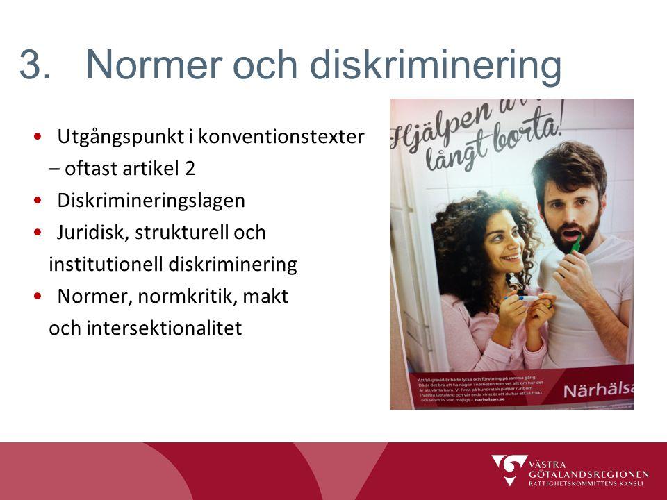 3. Normer och diskriminering