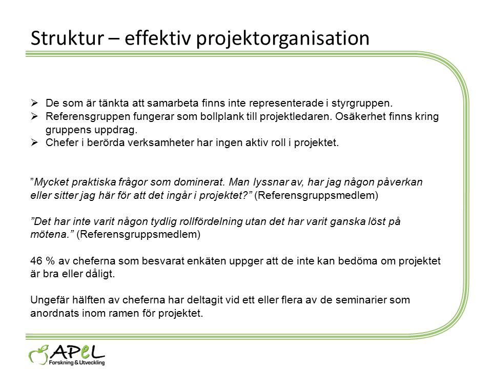 Struktur – effektiv projektorganisation