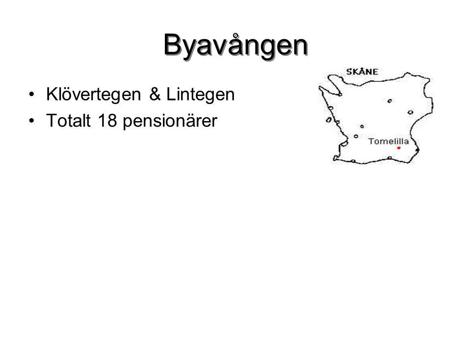 Byavången Klövertegen & Lintegen Totalt 18 pensionärer