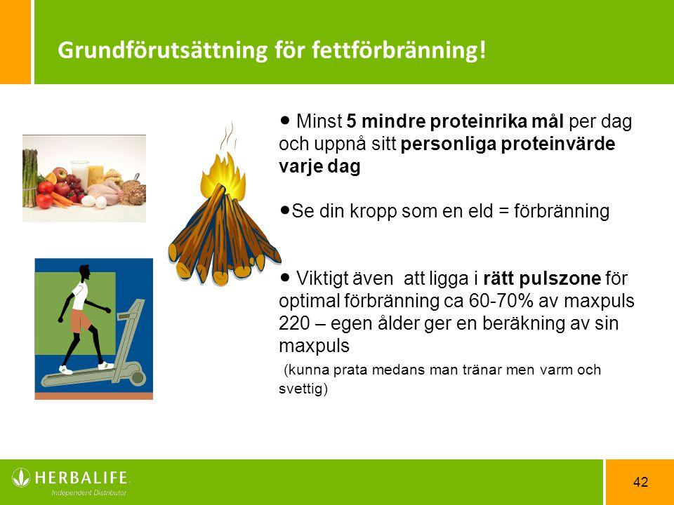 Grundförutsättning för fettförbränning!