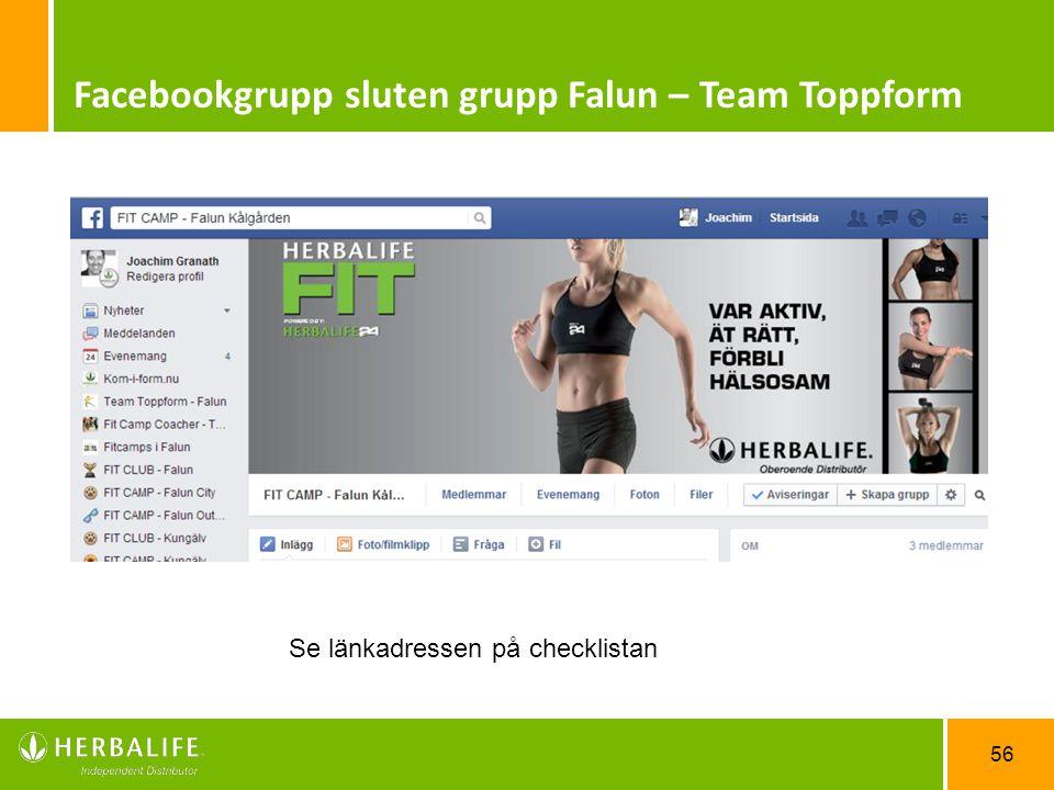 Facebookgrupp sluten grupp Falun – Team Toppform
