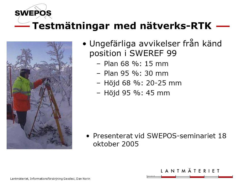 Testmätningar med nätverks-RTK