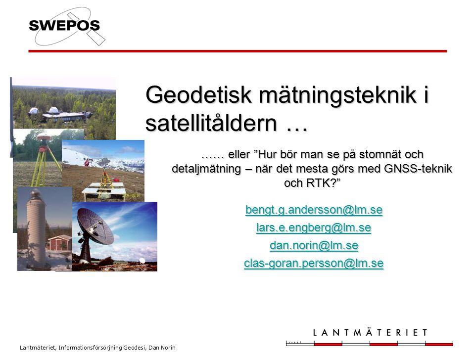 Geodetisk mätningsteknik i satellitåldern …