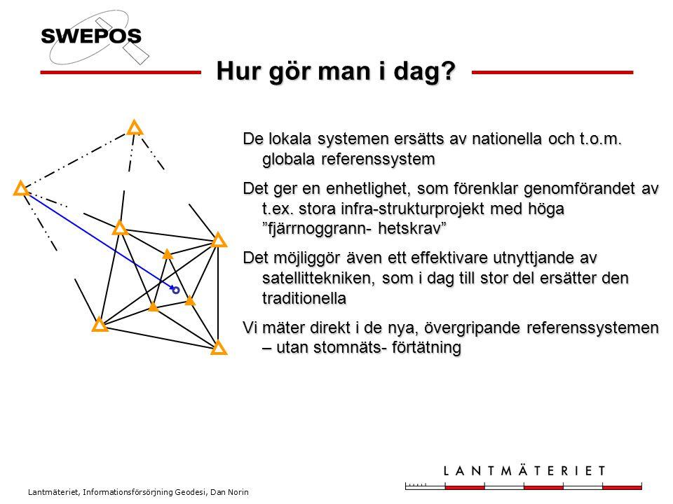 Hur gör man i dag De lokala systemen ersätts av nationella och t.o.m. globala referenssystem.