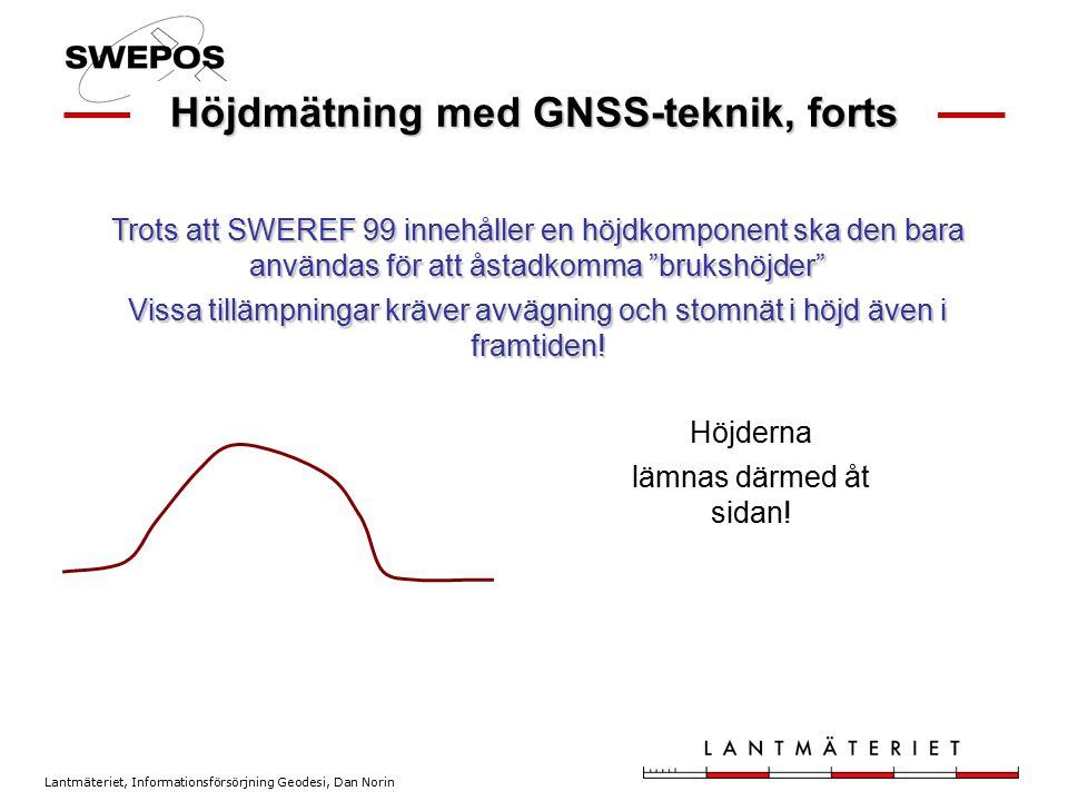 Höjdmätning med GNSS-teknik, forts