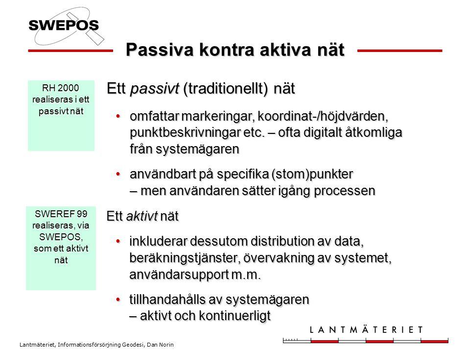 Passiva kontra aktiva nät