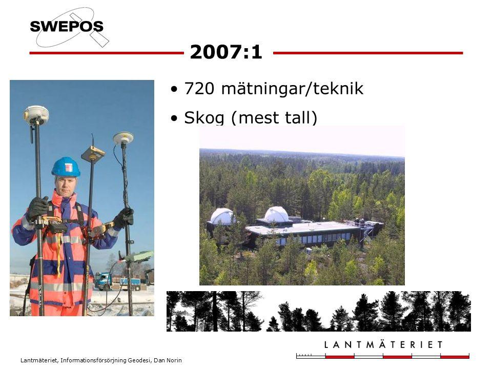 2007:1 720 mätningar/teknik Skog (mest tall)