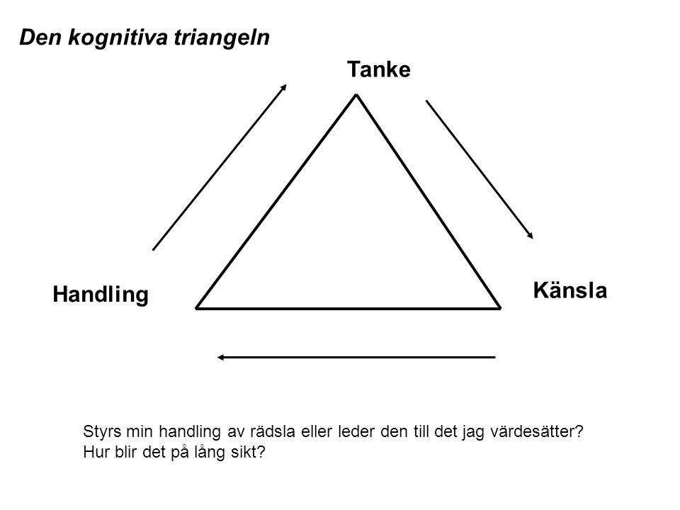 Den kognitiva triangeln Tanke