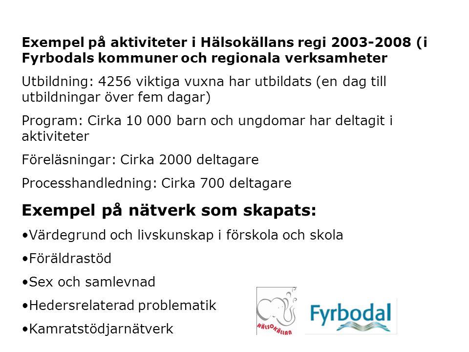 Exempel på nätverk som skapats: