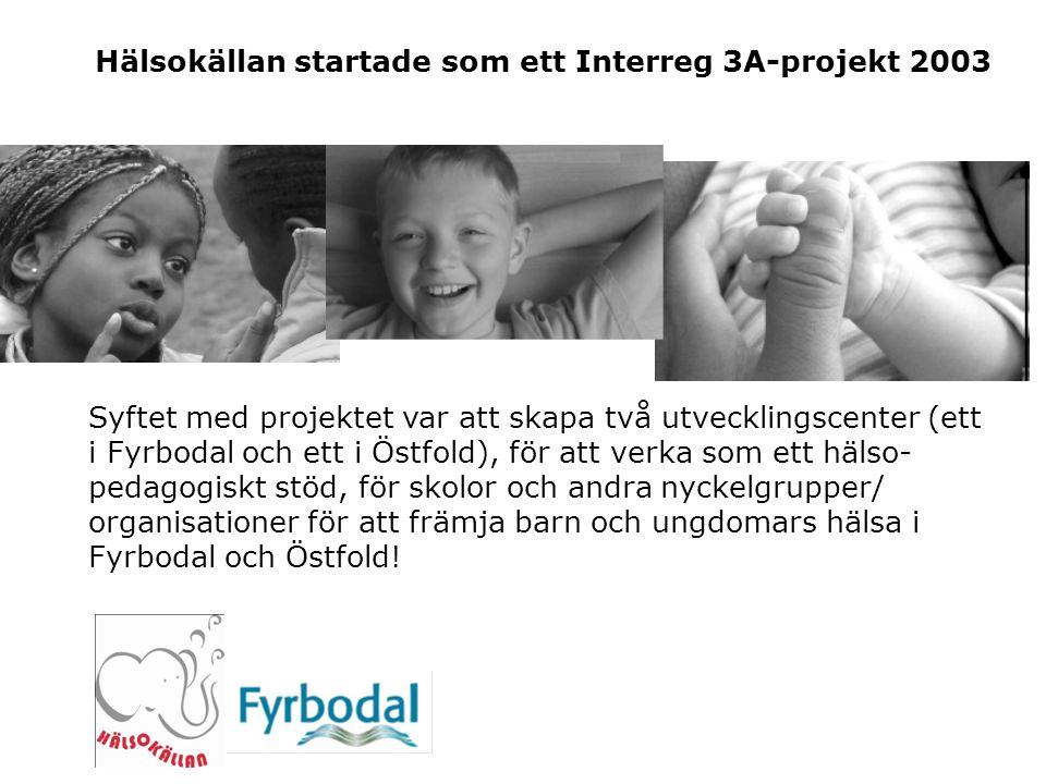 Hälsokällan startade som ett Interreg 3A-projekt 2003