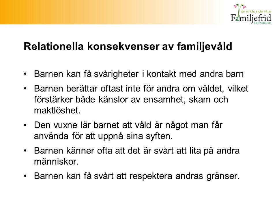 Relationella konsekvenser av familjevåld