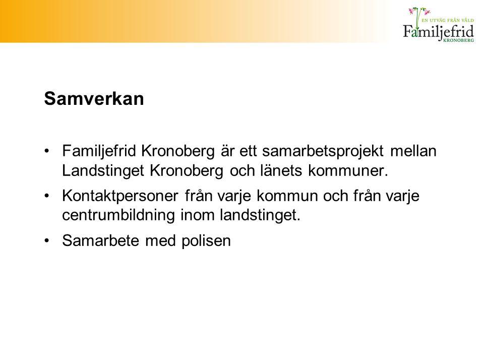 Samverkan Familjefrid Kronoberg är ett samarbetsprojekt mellan Landstinget Kronoberg och länets kommuner.