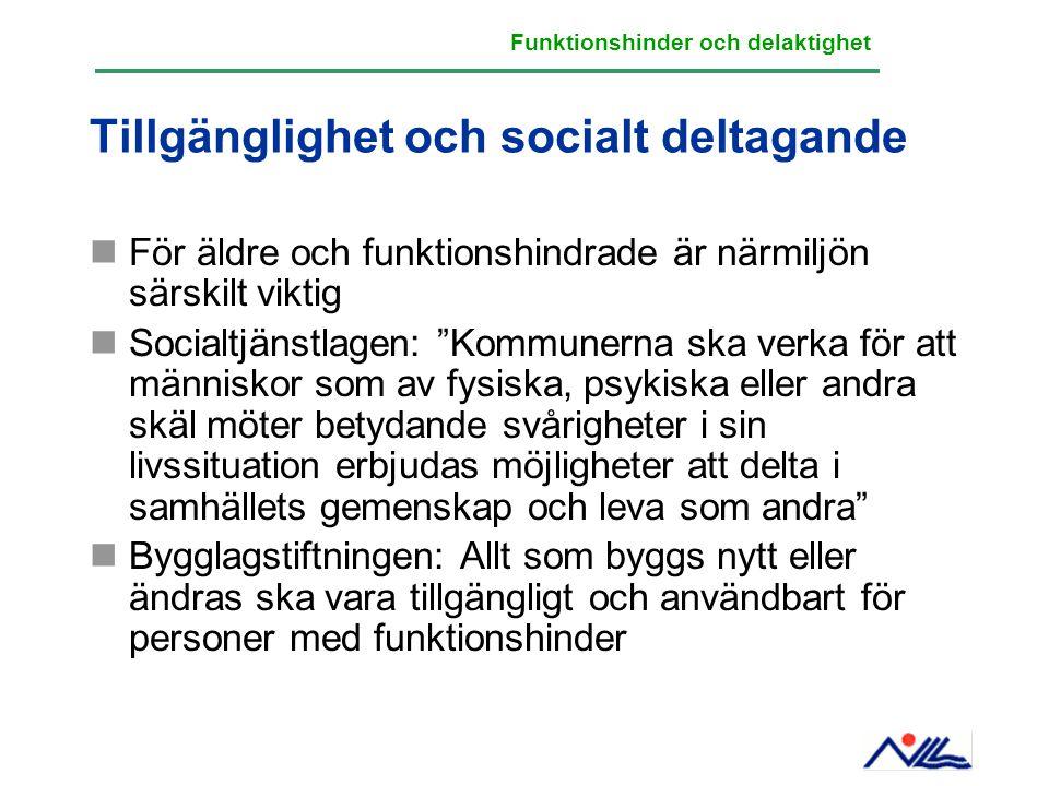 Tillgänglighet och socialt deltagande