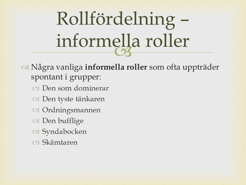 Rollfördelning – informella roller