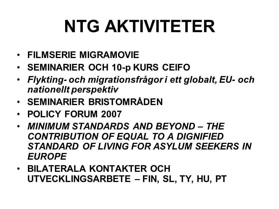 NTG AKTIVITETER FILMSERIE MIGRAMOVIE SEMINARIER OCH 10-p KURS CEIFO
