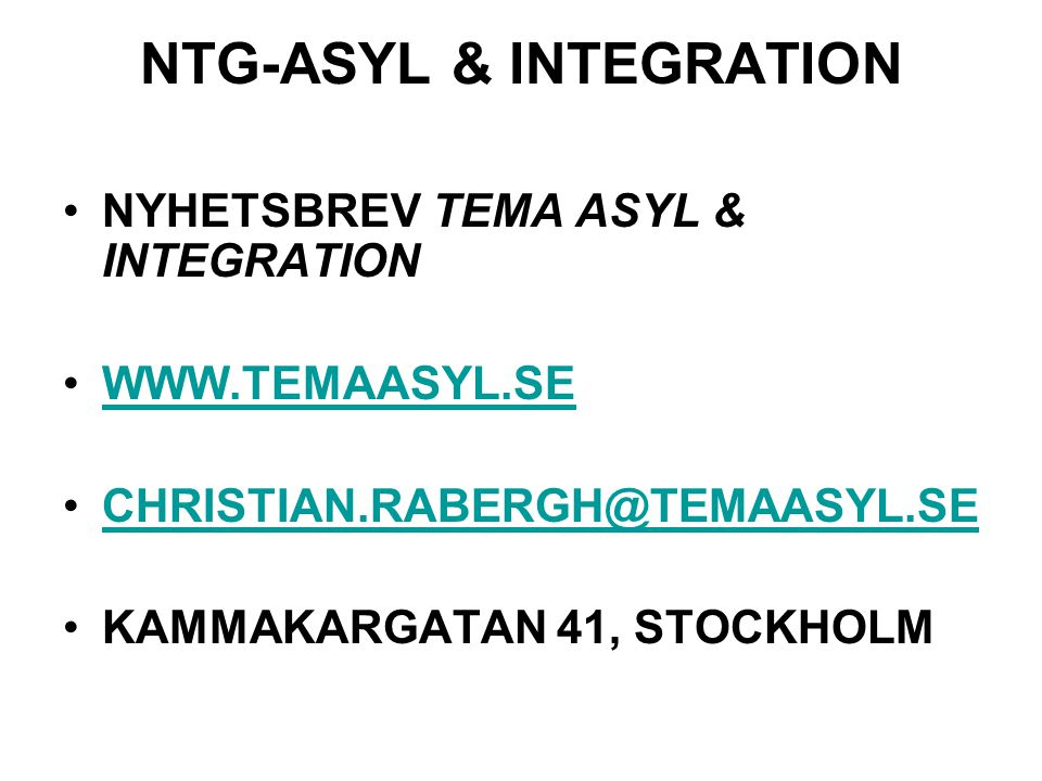 NTG-ASYL & INTEGRATION
