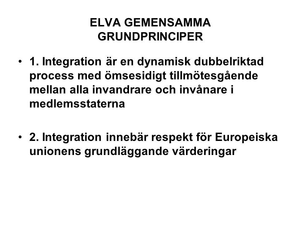 ELVA GEMENSAMMA GRUNDPRINCIPER