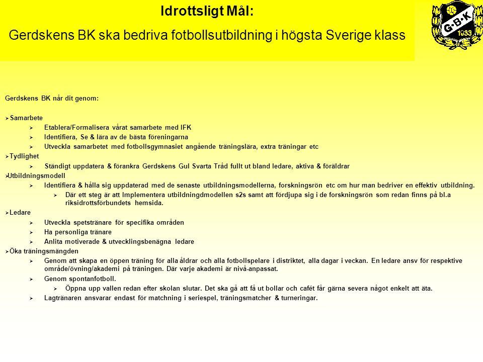 Gerdskens BK ska bedriva fotbollsutbildning i högsta Sverige klass