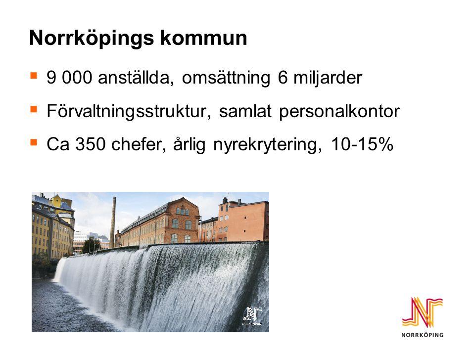 Norrköpings kommun 9 000 anställda, omsättning 6 miljarder
