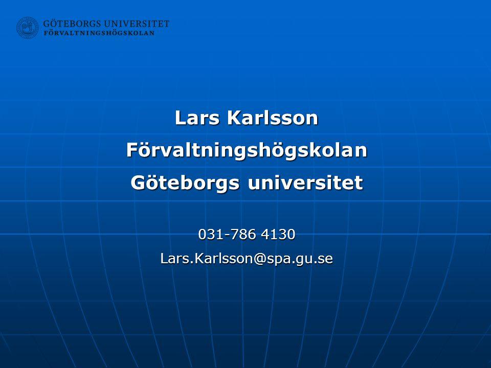 Förvaltningshögskolan Göteborgs universitet