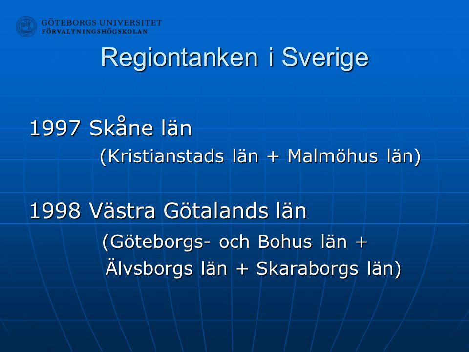 Regiontanken i Sverige