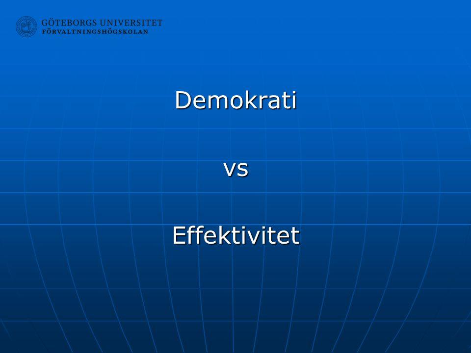 Demokrati vs Effektivitet