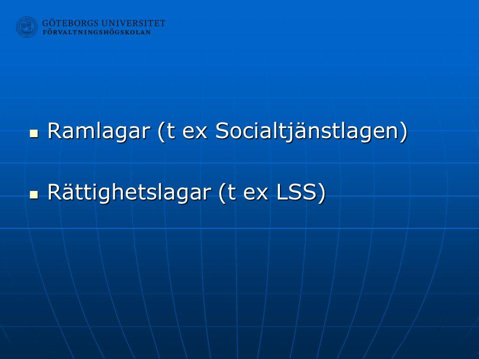 Ramlagar (t ex Socialtjänstlagen)