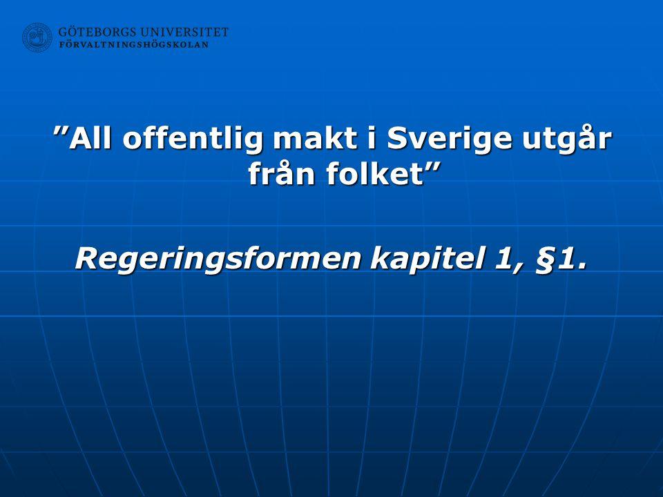 All offentlig makt i Sverige utgår från folket