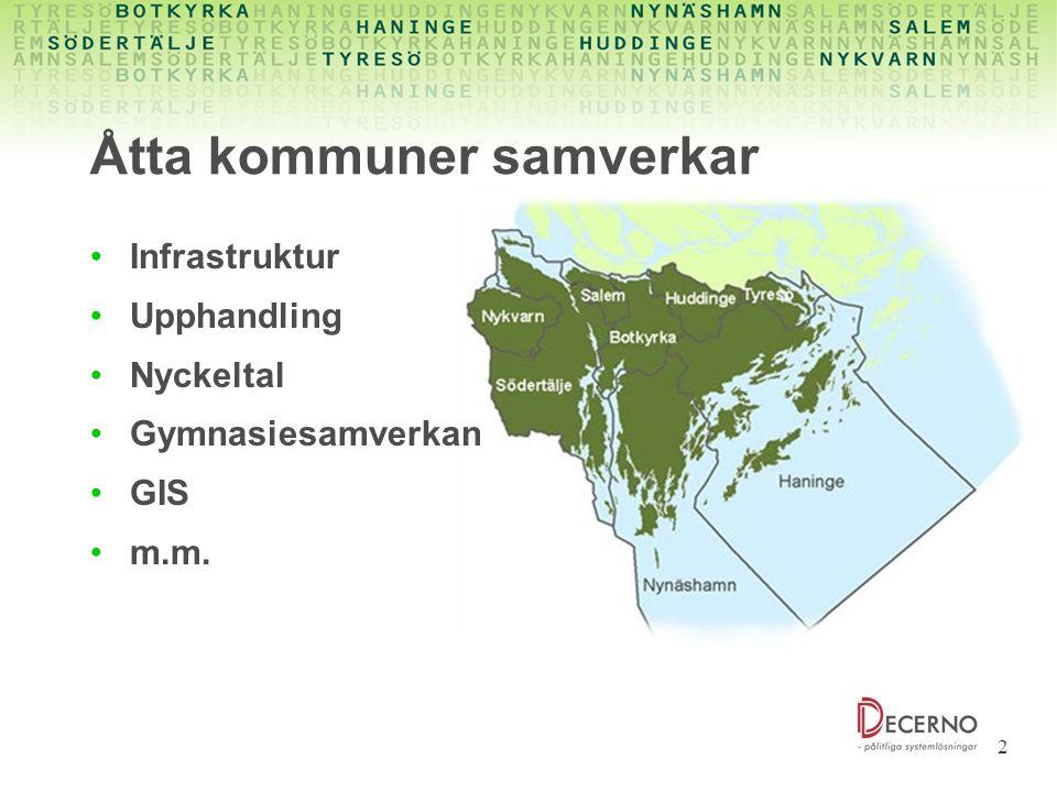 Åtta kommuner samverkar